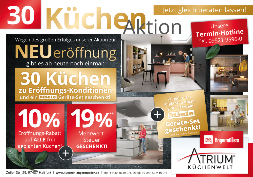 Aktionen im Küchenstudio