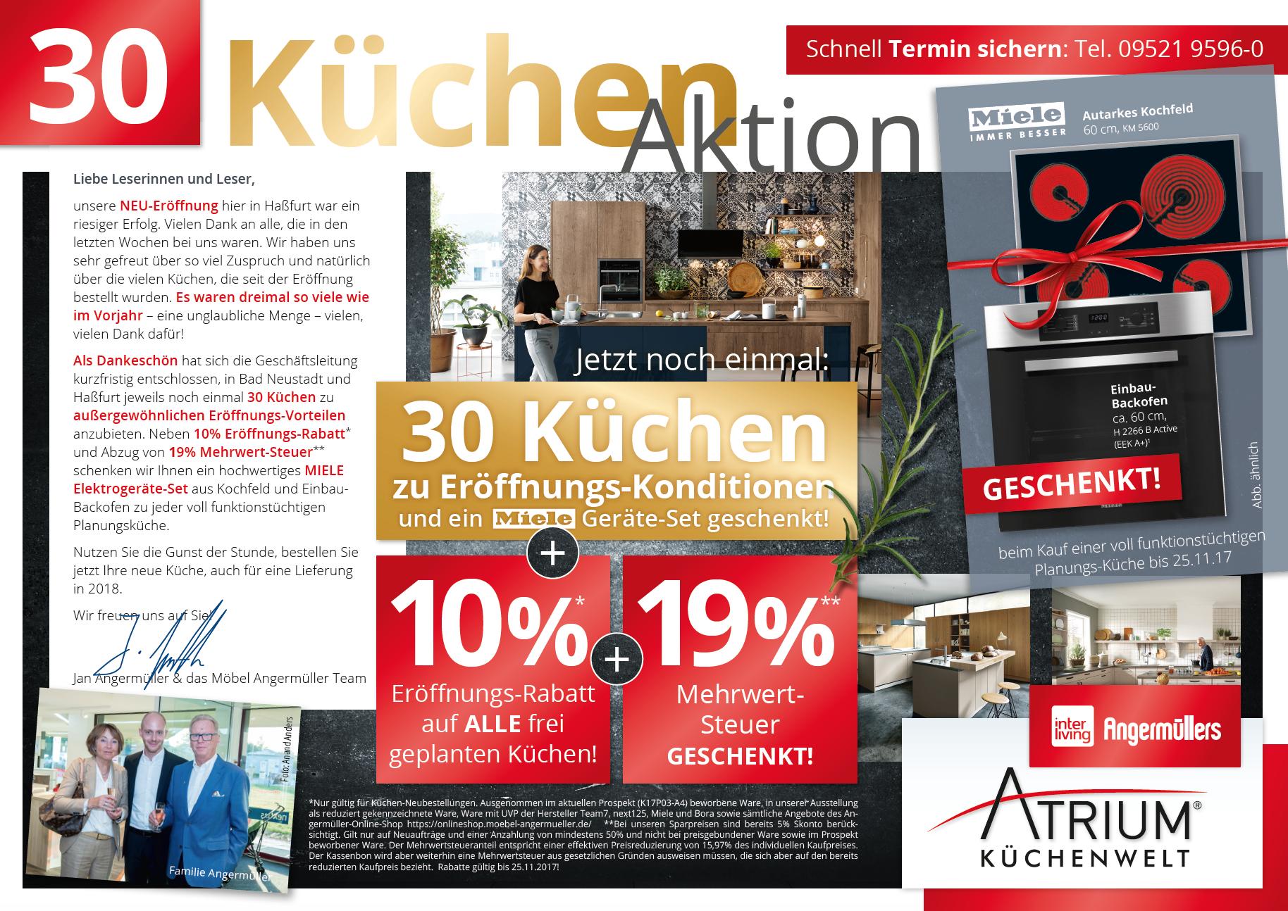 Anzeige Angermuller Has Angermuller S Atrium Kuchenwelt
